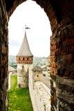 Onder watchtower royalty-vrije stock afbeelding