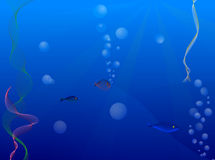 Onder water royalty-vrije illustratie