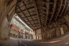 Onder Waterloo brug Stock Foto's