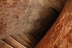 Onderaan aan catacomben Stock Foto