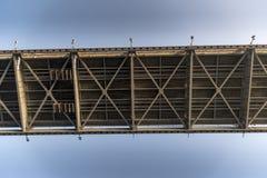 Onderaan de Brug van Amerika Panama stock foto