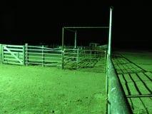 Onderaan de Pijp bij Nacht Stock Foto
