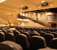 Onderaan het Balkon van het Auditorium Royalty-vrije Stock Afbeeldingen