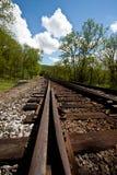 Onderaan het Spoor van de Spoorweg Stock Afbeeldingen