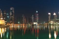 Onderaan stad van Doubai Stock Foto