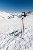 Onderbreking bij skihelling Royalty-vrije Stock Foto's