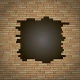 Onderbreking in de bakstenen muur vector illustratie