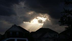 Onderbreking in de wolken Stock Foto's
