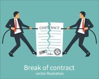 Onderbreking van een contract stock illustratie