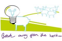 Onderbreking vanaf de kudde vector illustratie