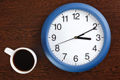 Onderbreking voor koffie Stock Foto