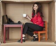 Onderbreking voor koffie in het bureau Royalty-vrije Stock Foto