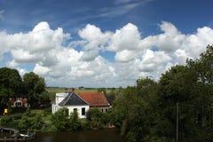 Onderdendam in der Provinz von Groningen Lizenzfreies Stockbild