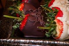 Ondergedompelde aardbeien Royalty-vrije Stock Foto