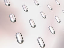 Ondergedompelde capsules Royalty-vrije Stock Afbeelding