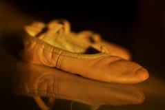 Ondergeschikte balletschoenen Stock Afbeelding
