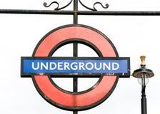 Ondergronds de metroteken van Londen Stock Afbeelding
