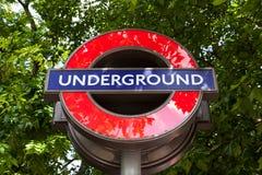 Ondergronds de Postteken van Londen Stock Foto's