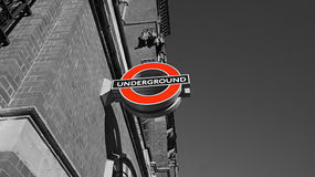 Ondergronds embleem in Londen Royalty-vrije Stock Foto's