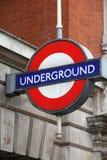 Ondergronds embleem in Londen Stock Fotografie