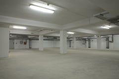 Ondergronds leeg parkeren Royalty-vrije Stock Fotografie