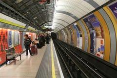Ondergronds in Londen Royalty-vrije Stock Afbeeldingen