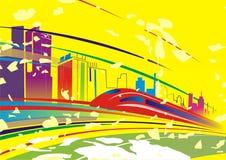 Ondergronds op kleurenachtergrond Stock Fotografie