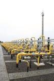 Ondergronds pakhuis van gas stock afbeelding