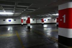 Ondergronds parkeren Stock Foto