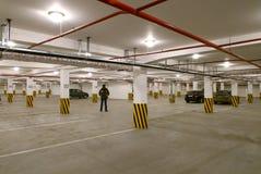 Ondergronds parkeren Royalty-vrije Stock Afbeelding