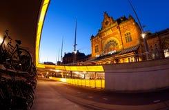 Ondergronds parkeren voor fietsen door Centrale post in Groningen Royalty-vrije Stock Afbeelding