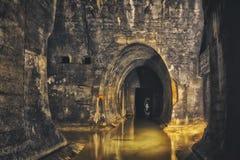 Ondergronds systeem onder stad royalty-vrije stock afbeeldingen