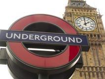 Ondergronds teken Royalty-vrije Stock Foto