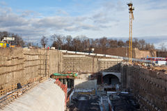 Ondergrondse bouw Royalty-vrije Stock Fotografie