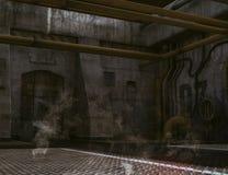 Ondergrondse bunkeringang Stock Fotografie