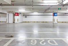Ondergrondse garage Royalty-vrije Stock Foto's