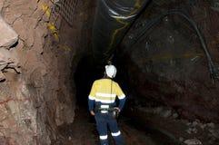 Ondergrondse Geoloog stock foto's
