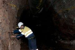 Ondergrondse Geoloog royalty-vrije stock foto's