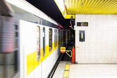 Ondergrondse metro post royalty-vrije stock fotografie
