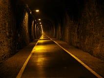 Ondergrondse metrotunnel Stock Afbeeldingen