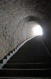 Ondergrondse oude passage Royalty-vrije Stock Foto's