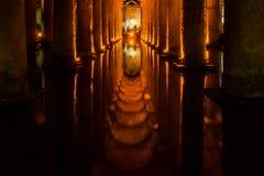 Ondergrondse Reservoirs van Istanboel Royalty-vrije Stock Afbeeldingen