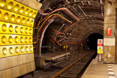 Ondergrondse tunnel Stock Afbeelding