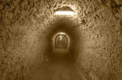 Ondergrondse tunnel Stock Foto's