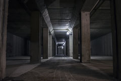 Ondergrondse tunnel in berg Royalty-vrije Stock Foto's