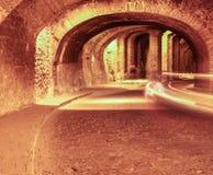 Ondergrondse tunnel in Guanaguato, Mexico Stock Foto's