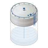 Ondergrondse waterreservoir isometrische grafische de bouwinformatie Ondergrondse reservoirlevering Stock Fotografie