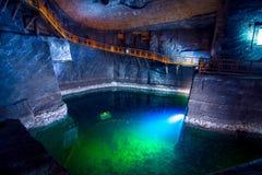 Ondergrondse Wieliczka-Zoutmijn 13de eeuw, één van de wereld` s oudste zoutmijnen, dichtbij Krakau, Polen royalty-vrije stock afbeelding