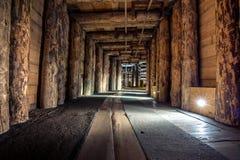 Ondergrondse Wieliczka-Zoutmijn 13de eeuw, één van de wereld` s oudste zoutmijnen, dichtbij Krakau, Polen stock fotografie