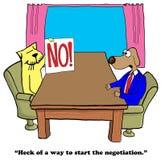 onderhandeling Royalty-vrije Stock Foto